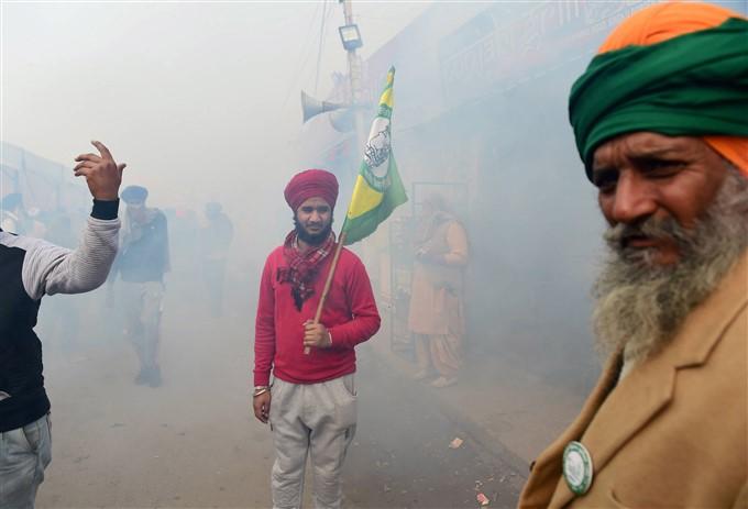 Farmers Protest Against Central Government Over Farm Laws In Delhi, 09/01/2021