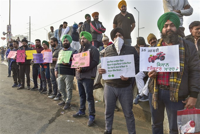 Farmers Protest Against Central Government Over Farm Laws, 20/01/2021