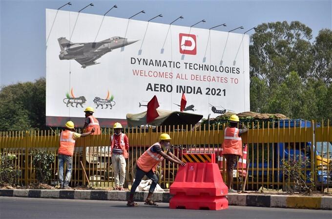 Preparations For Aero India 2021, In Bengaluru