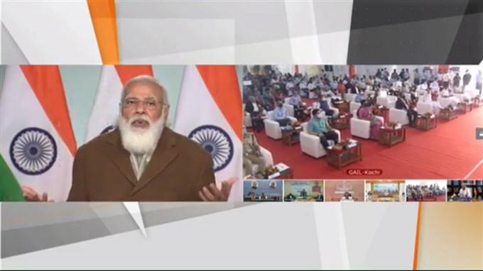 PM Modi Inaugurates Kochi-Mangaluru Natural Gas Pipeline Via Video Conferencing, 05/01/2021