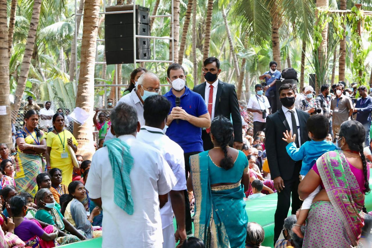கரூர் பகுதியில் களைகட்டிய ராகுல் காந்தி தேர்தல் பிரசாரம்