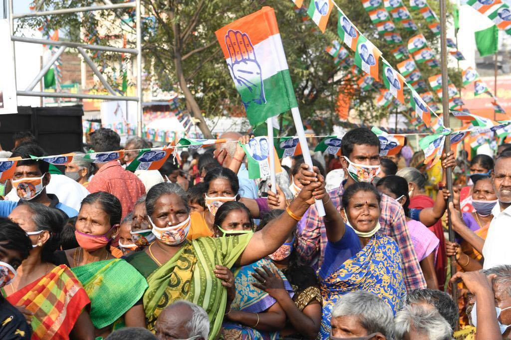 Senior Congress Leader Rahul Gandhi Campaign In TamilNadu