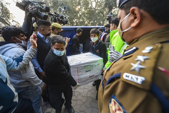 Covishield Vaccine From Pune's Serum Institute Arrives At Different Parts Of The Country, 13/01/2021
