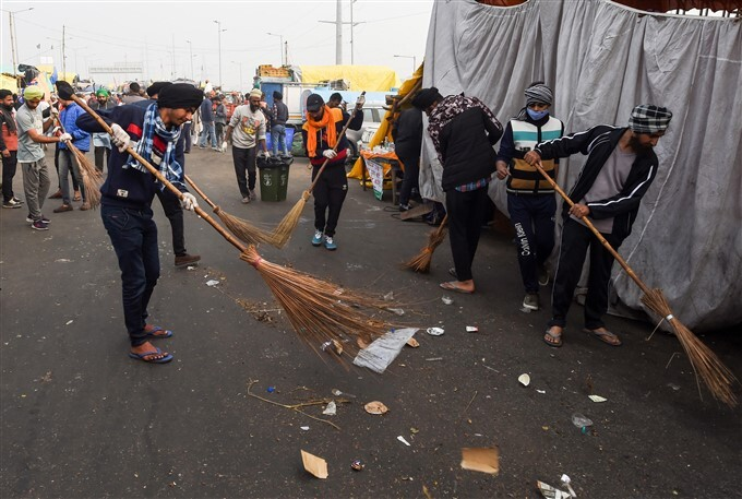 Farmers Protest Against Central Government Over Farm Laws In Delhi, 18/01/2021