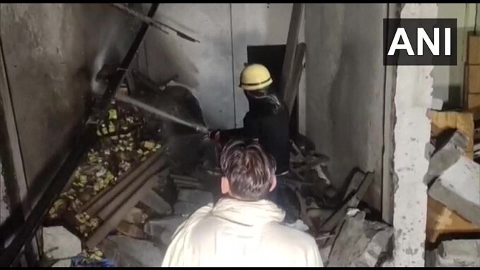 Blast At A Cracker Factory In Karnal, Haryana