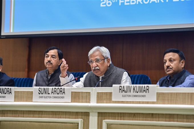 Chief Election Commissioner During A Press Conference In New Delhi