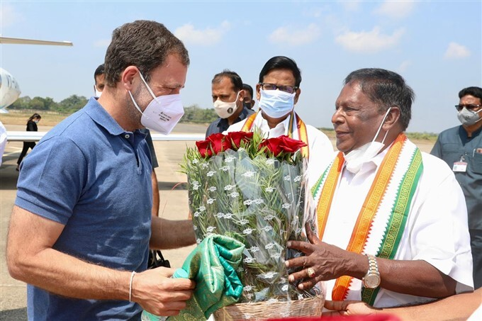 Congress Leader Rahul Gandhi 1 Day Visit To Puducherry