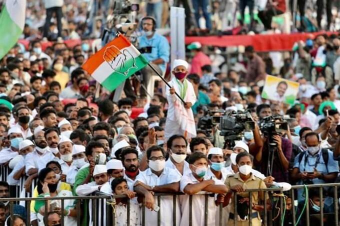 திருவனந்தபுரத்தில் நடந்த பிரம்மாண்டமான காங்கிரஸ் பொதுக்கூட்டத்தில் ராகுல்காந்தி