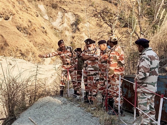 DG ITBP S S Deswal With Senior Officials Reviews Rescue And Restoration Work In Chamoli