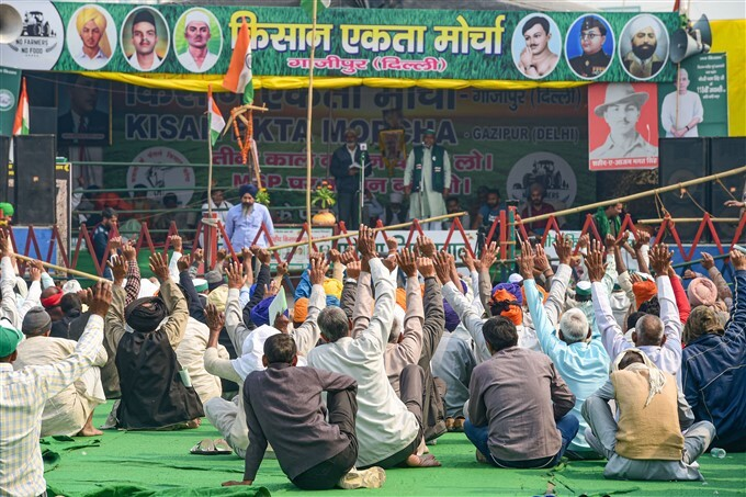 Farmers Protest Against Central Government Over Farm Laws, 12/02/2021