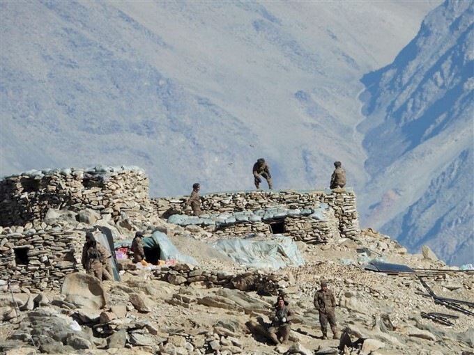 Indian And Chinese Troops And Tanks Disengaging From Pangong Lake