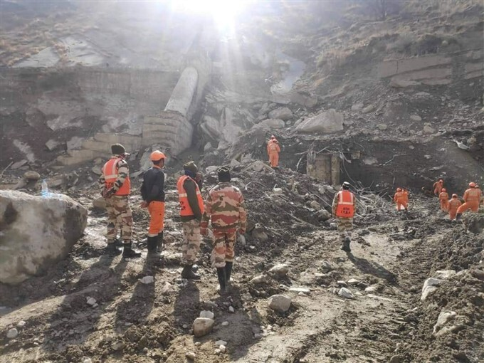 Rescue And Restoration Work Continues At Tapovan Hydel Project In Chamoli