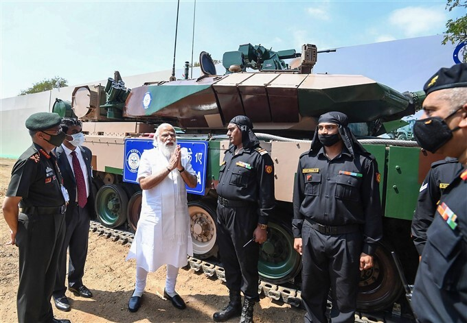 PM Modi Handing Over The Indigenously Developed Arjun Main Battle Tanks To The Army, In Chennai