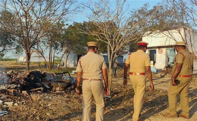 Fire Breaks Out At Firecracker Factory In Tamil Nadu