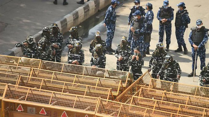 Security Tightened In Delhi Ahead Of Chakka Jam