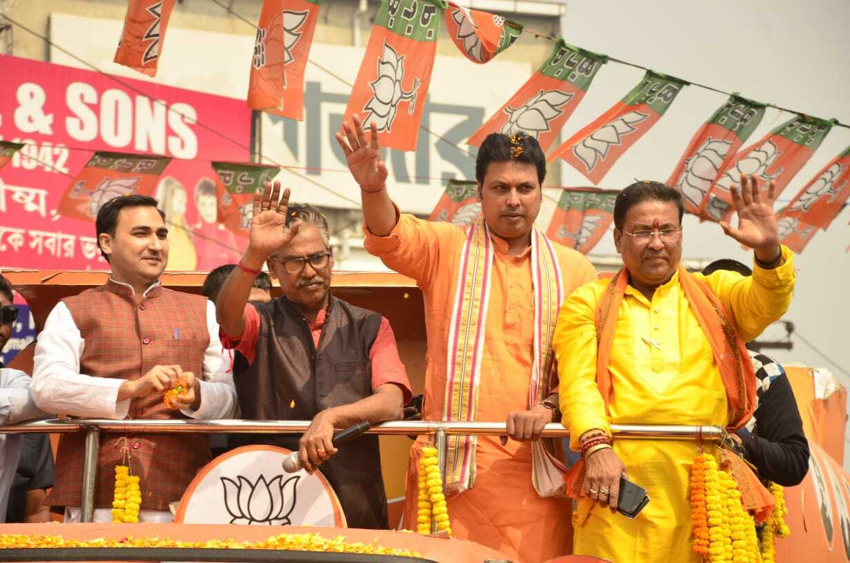 Tripura CM And BJP Leader Biplab Deb At A Rally In West Bengal