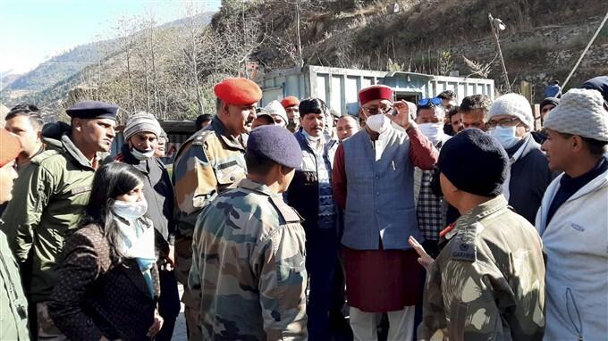 Uttarakhand Glacier: CM Trivendra Singh Rawat Inspects Flood Hit Areas