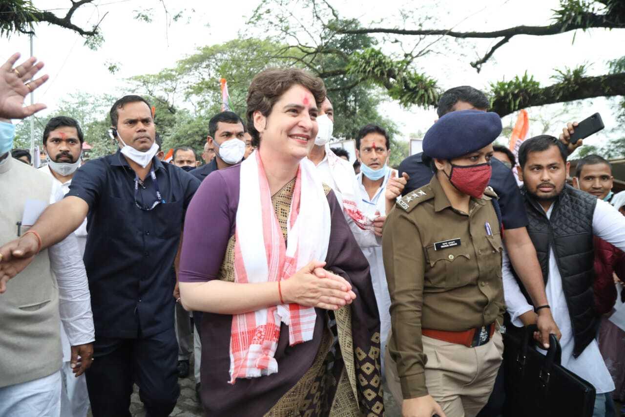 प्रियंका गांधी वाड्रा का असम दौरा
