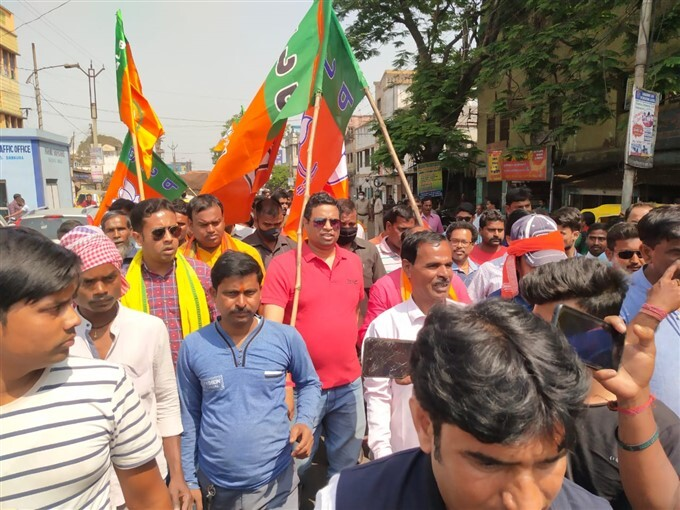 BJP MP Soumitra Khan Protest Against TMC Govt In Bankura