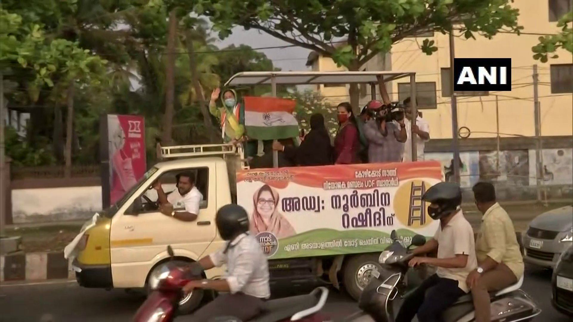 Congress Leader Noorbina Rasheed During Election Campaign In Kozhikode
