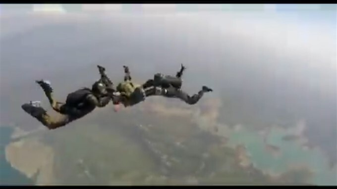 Indian Army And Turkmenistan Special Forces First Leg Of Sky-diving Training