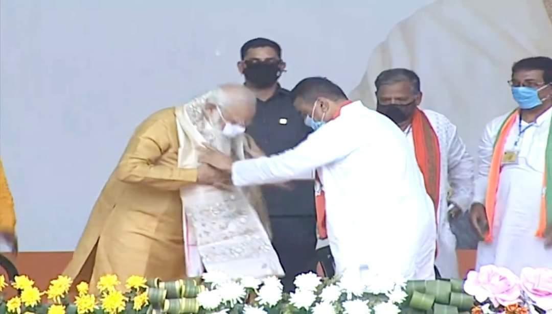 PM Narendra Modi And Suvendu Adhikari During Election Campaign In WB