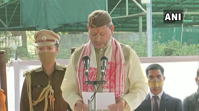 Tirath Singh Rawat Sworn In As New Chief Minister Of Uttarakhand