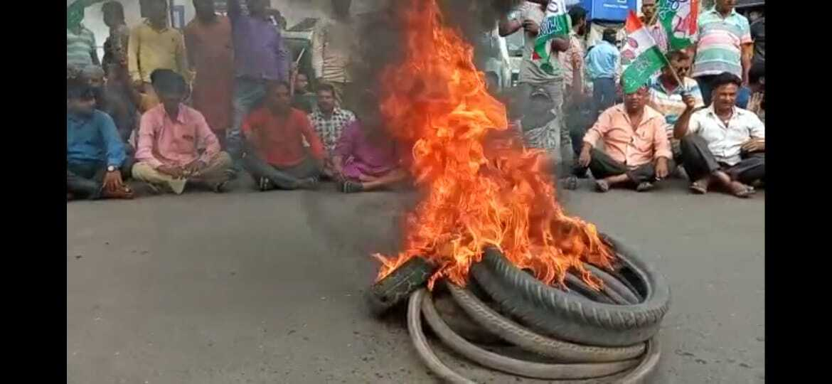 TMC Protest Against Allegedly Attack On Mamata Banerjee