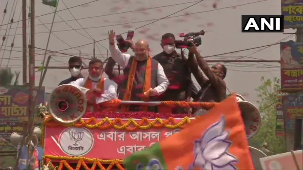 Union Home Minister Amit Shah Holds Roadshow In Nandigram