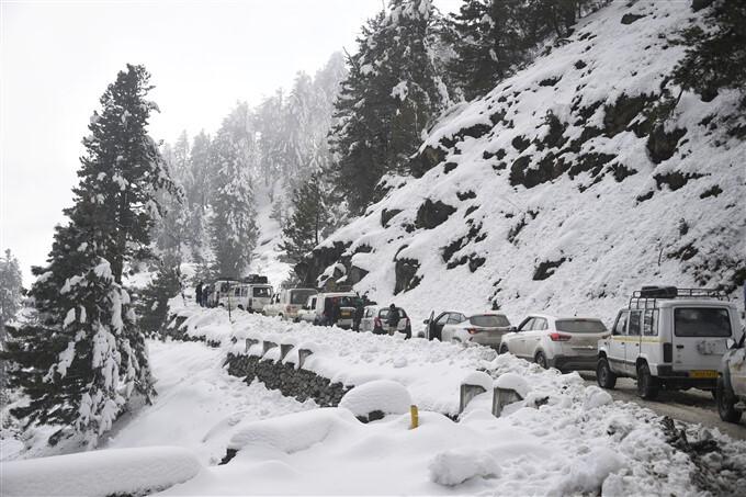 Snowfall In Jammu And Kashmir And Leh