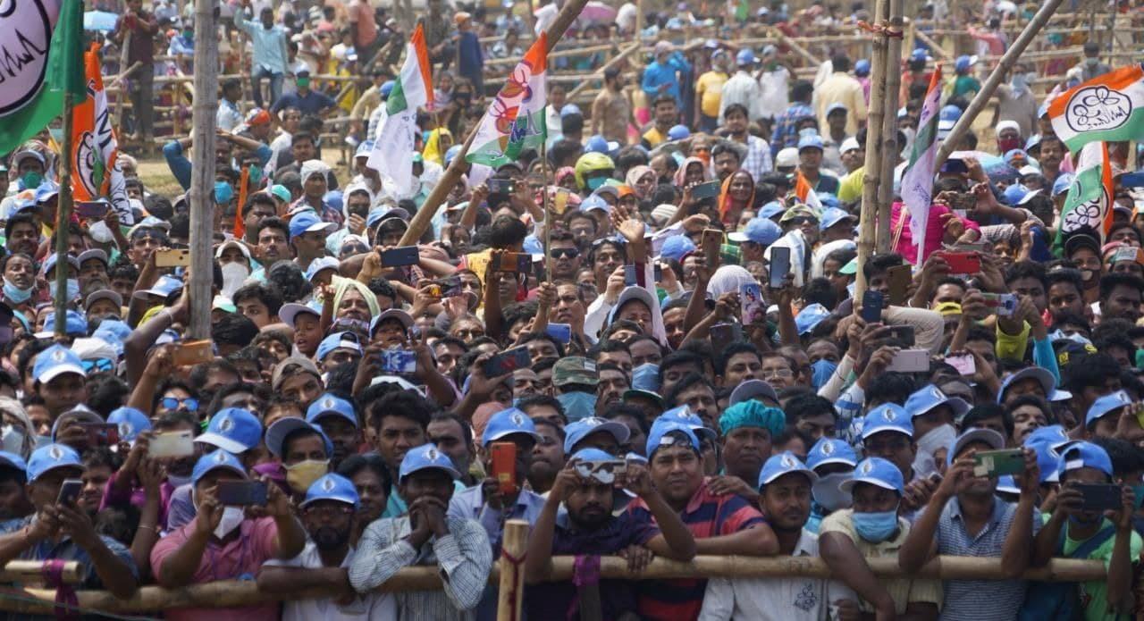 WB CM And TMC Chief Mamata Banerjee Election Campaign At Dashpur