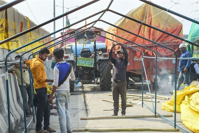 Farmers Protest Against New Farm Law In New Delhi