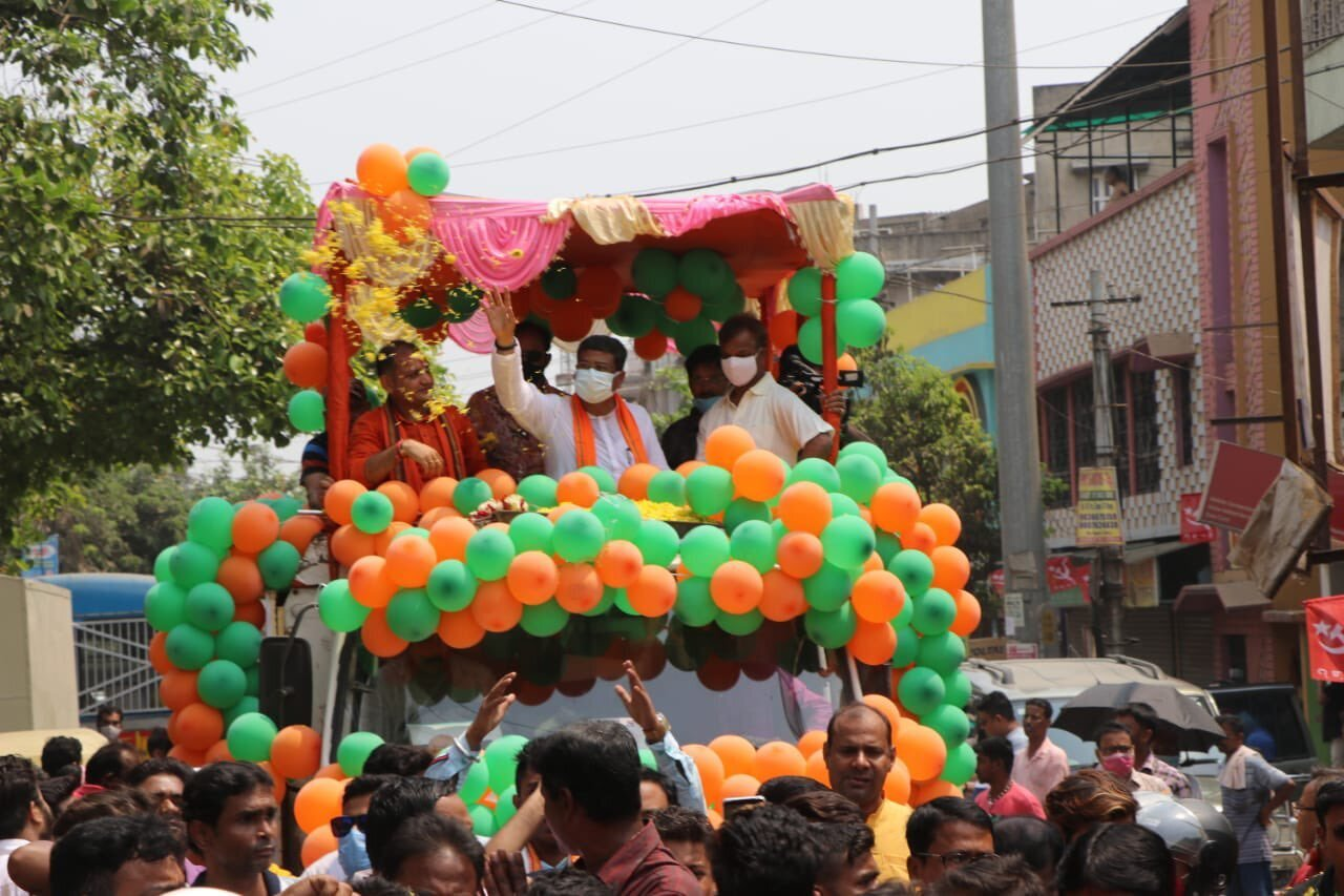 Union Minister Dharmendra Pradhan During Election Campaign In West Bengal