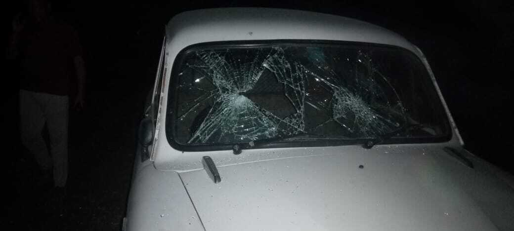 WB BJP State President Dilip Ghosh's Convoy Attacked In Sitalkuchi Area Of Cooch Behar