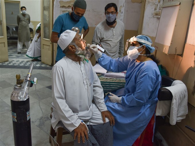 Black, White And Yellow Fungus Infected Patient Receives Treatment At Hospital