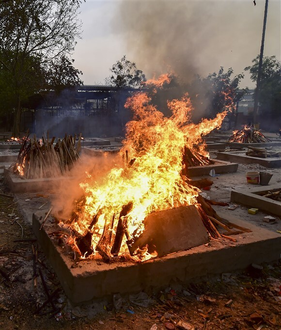 Cremation Of COVID-19 Victims In India, 07/05/2021