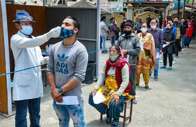 Covid-19 2nd Wave: Health Workers Collects COVID-19 Test Sample Across India