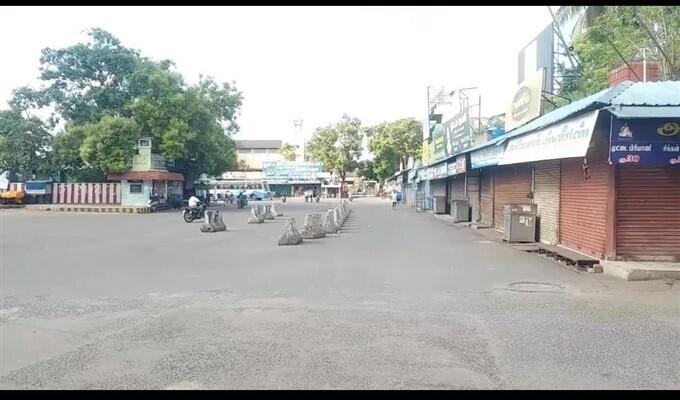 തമിഴ്നാട്ടിൽ സമ്പൂർണ ലോക്ക്ഡൗൺ... ചിത്രങ്ങളിലൂടെ