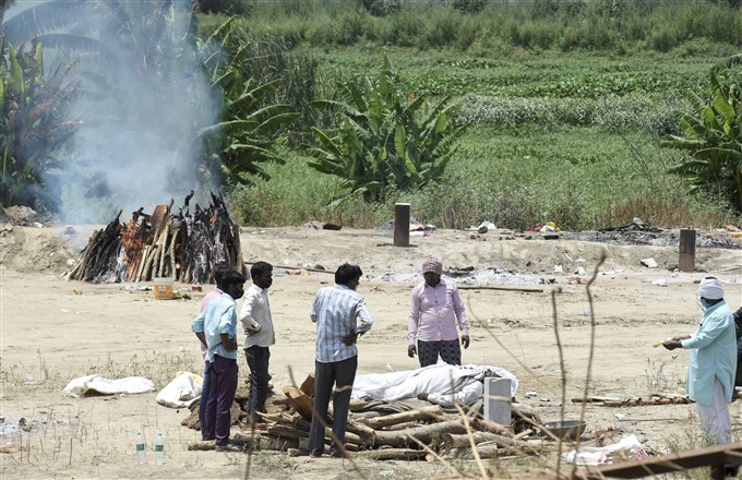 Cremation Of COVID-19 Victims In India, 15/05/2021
