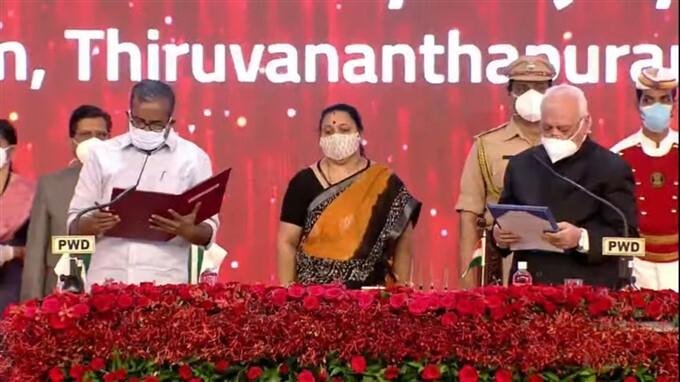 LDF Chief Pinarayi Vijayan's Cabinet Swearing In Ceremony In Thiruvananthapuram
