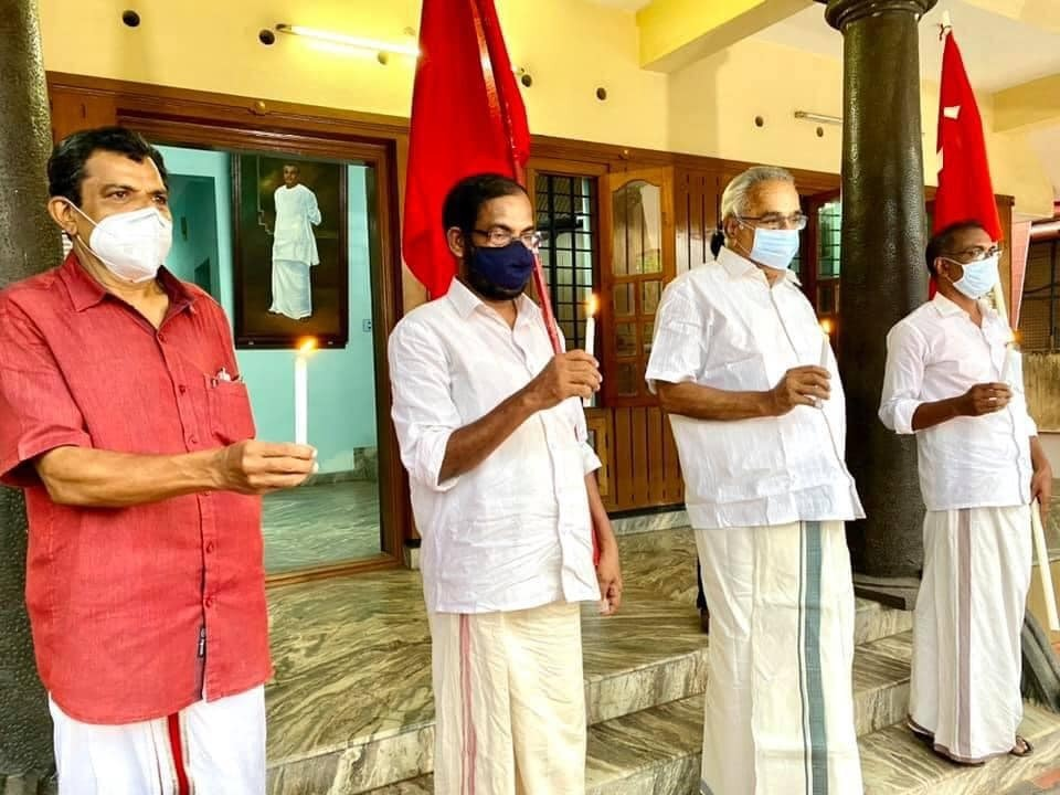 LDF Chief Vijayan And Leaders Celebrates Party Victory Assembly Polls In Kerala