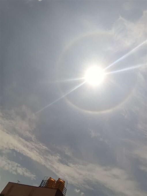Magnificent Sun Halo In Bengaluru