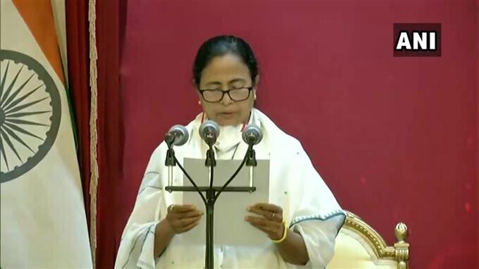 ബംഗാൾ മുഖ്യമന്ത്രിയായി മമത ബാനർജി സത്യപ്രതിജ്ഞ ചെയ്തു, ചിത്രങ്ങൾ കാണാം