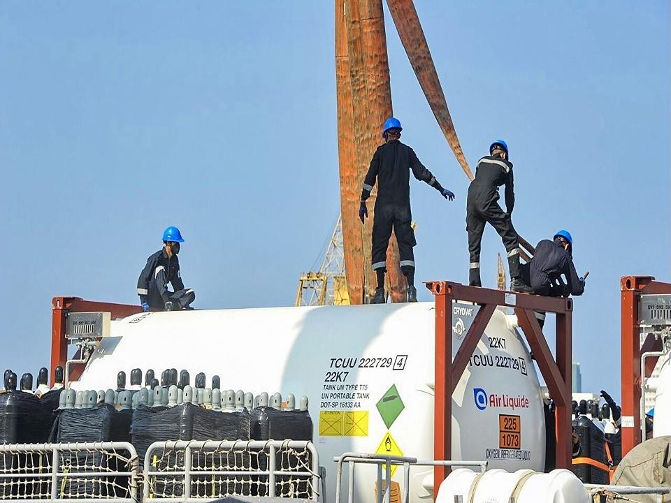 Operation Setu Samudram INS Jalashwa Reaches India With Oxygen Supplies