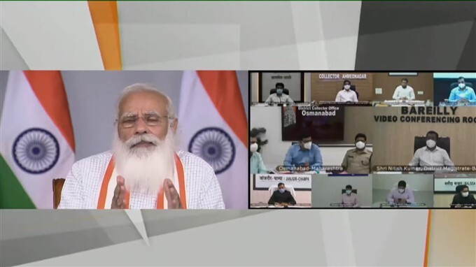 PM Modi Interacts With The State And District Officials On COVID-19 Situation, In Delhi