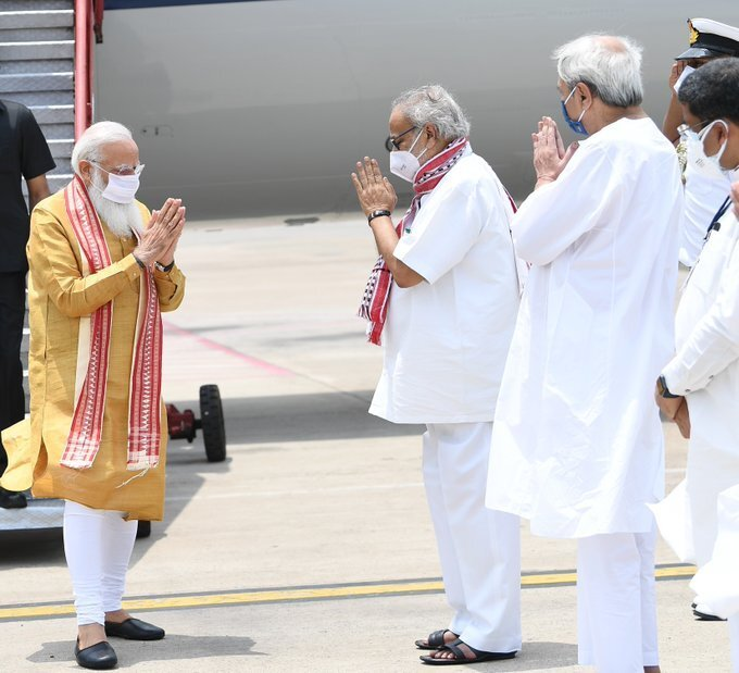 PM Narendra Modi Conduct Aerial Survey Of Affected Areas Due Cyclone Yaas In Odisha And WB