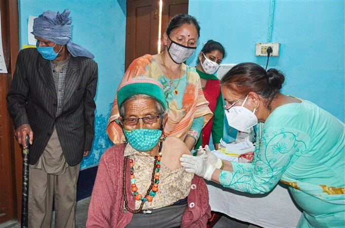 Covid-19 2nd Wave: Citizens Receive COVID-19 Vaccine During Third Phase Of Vaccination Across Indian