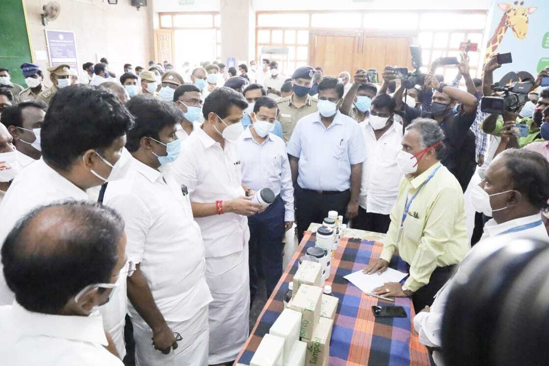Tamil Nadu Ministers During Corona Relief Work In The State