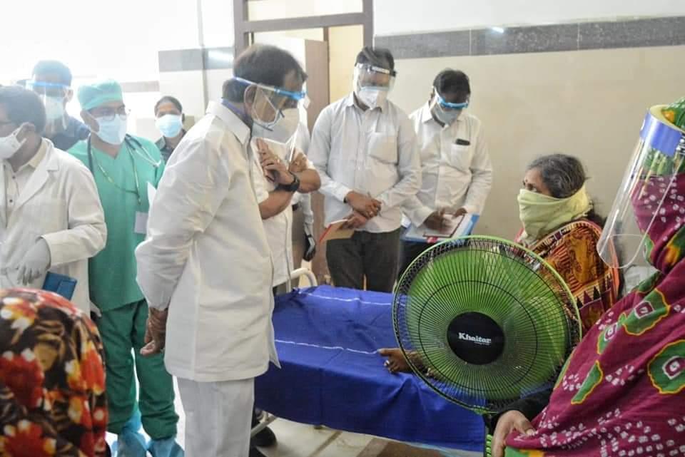 Telangana CM KCR Visits Covid Ward At MGM Hospital In Warangal