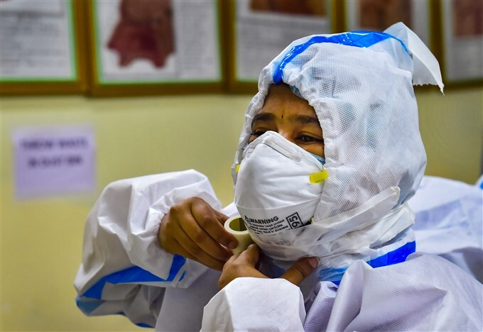 Nursing Staff Gets Ready For Covid Ward Duty At A Medical College Hospital In Bengaluru